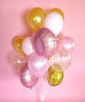 """Фонтан из шаров """"Розовое сияние"""" - купить цветы и аксессуары в интернет-магазине Дом цветов"""