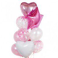 """Фонтан из шаров """"Розовый пунш"""" - купить цветы и аксессуары в интернет-магазине Дом цветов"""