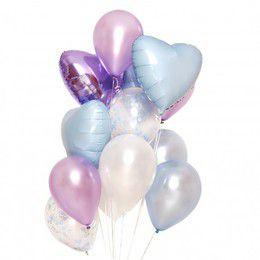 """Фонтан из шаров """"Иней"""" - купить цветы и аксессуары в интернет-магазине Дом цветов"""