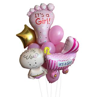 """Фонтан """"На выписку девочки"""" - купить цветы и аксессуары в интернет-магазине Дом цветов"""