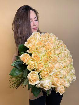 Букет из персиковой розы ( Россия )  - купить цветы и аксессуары в интернет-магазине Дом цветов
