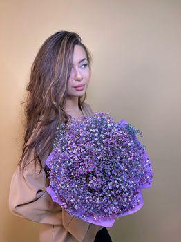 Букет из гипсофилы - купить цветы и аксессуары в интернет-магазине Дом цветов