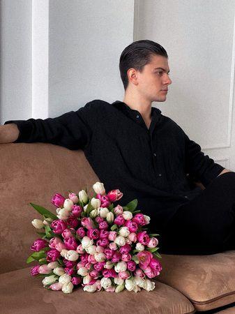 """Букет из тюльпанов """"Заряд энергии"""" - купить цветы и аксессуары в интернет-магазине Дом цветов"""