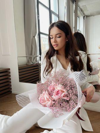 """Букет """"Нежное сияние""""  - купить цветы и аксессуары в интернет-магазине Дом цветов"""