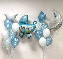 """Композиция из шаров """"Коляска""""  - купить цветы и аксессуары в интернет-магазине Дом цветов"""
