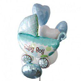 """Фонтан """"Коляска для мальчика"""" - купить цветы и аксессуары в интернет-магазине Дом цветов"""