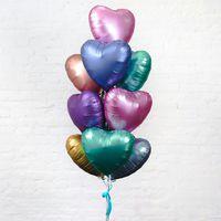 Сатиновые сердца «Ассорти» - купить цветы и аксессуары в интернет-магазине Дом цветов