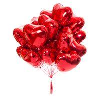 Облако из 15 фольгированных сердец - купить цветы и аксессуары в интернет-магазине Дом цветов