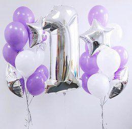 """Композиция из шаров """"Фиолетовая"""" - купить цветы и аксессуары в интернет-магазине Дом цветов"""